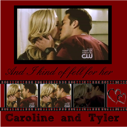 The Vampire Diaries TV Show wallpaper possibly with anime entitled Caroline and Tyler ♥