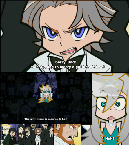 Cinder X Luna wallpaper containing anime called Cinuna comic XD