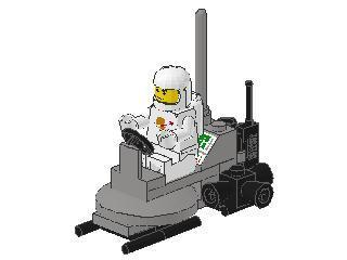 Classic Space Rocket Sled