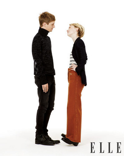 ELLE Magazine- Henry Hopper and Mia Wasikowska