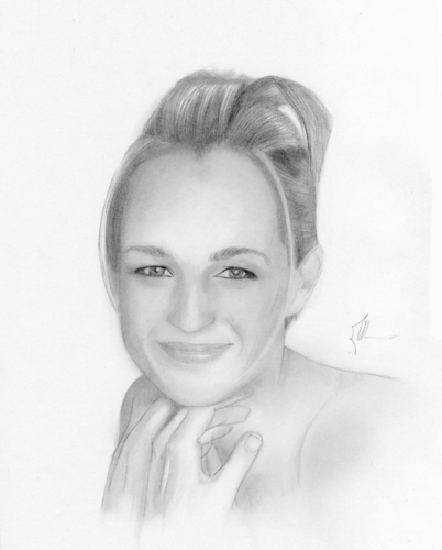 Elegant Rendering of Helen Hunt