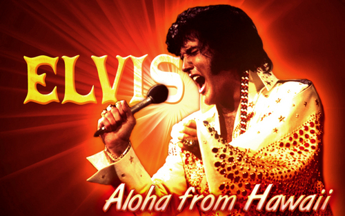 Elvis Presley Hintergrund with a konzert called Elivs Hawaiian Style