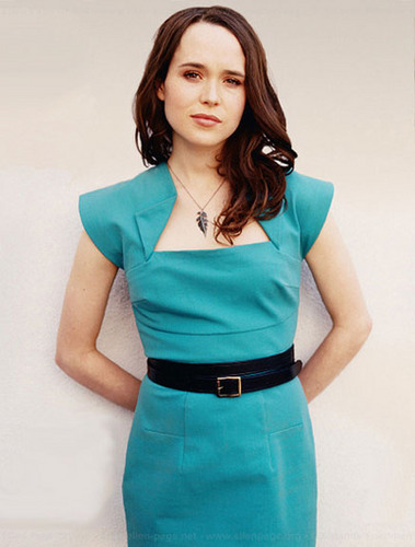 Ellen Page wallpaper possibly containing a cocktail dress and a shirtwaist entitled Ellen Page