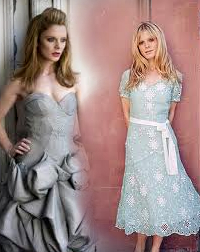 Emilia لومڑی (Morgause) looking great in these two dresses!