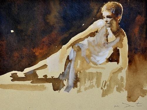 Emma Watson portraits দ্বারা Mark Demsteader