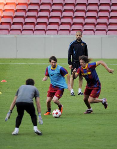 FC Barcelona Media Open Tag Ahead Of UEFA Champions League Final (Lionel Messi)