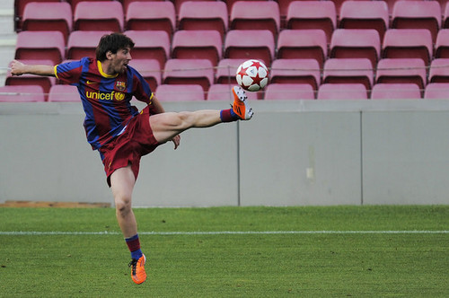 FC Barcelona Media Open dag Ahead Of UEFA Champions League Final (Lionel Messi)