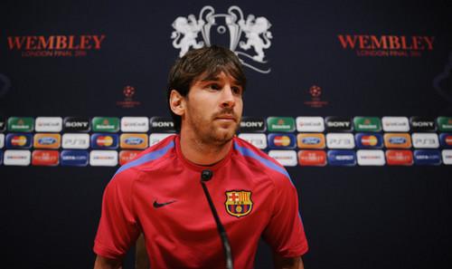 FC Barcelona Media Open dag Ahead Of UEFA Champions League Final (Lionel Messi)