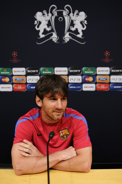 FC Barcelona Media Open Day Ahead Of UEFA Champions League Final  (Lionel Messi)