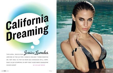 Jessica Lowndes wallpaper possibly with a bikini and a portrait titled FHM - July issue