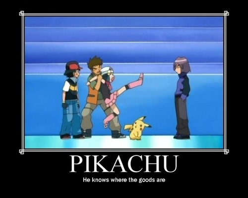 Good boy, Pikachu! Good boy! xD