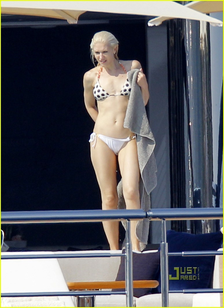 Gwen Stefani Bikini Babe in Cannes gwen stefani 22336838 775 1064 Yes this is a picture of a pile of dog hair (on a chair for size ...