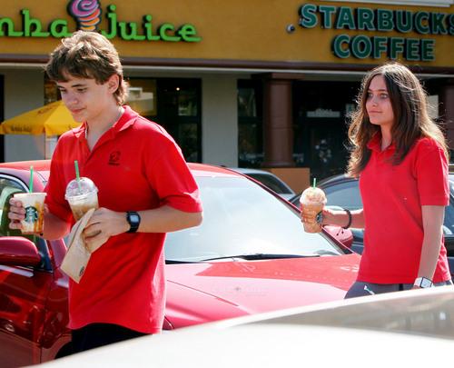 HQ-Prince and Paris at Starbucks 5/26/2011