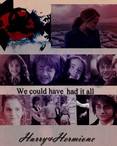 harry dan hermione wallpaper containing anime called Hr&H