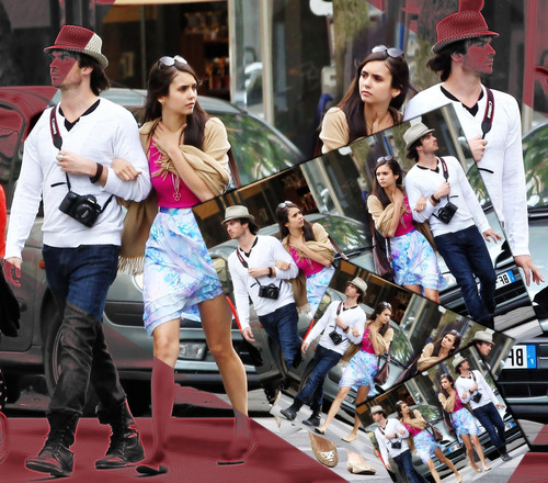 Ian and Nina walking in Paris