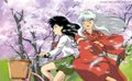 InuYasha and Kagome riding Kagome's bike - inuyasha-and-kagome-forever photo