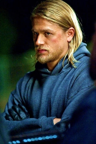 "Jackson ""JAX"" Teller वॉलपेपर possibly with a हुड, डाकू and a portrait titled Jax"