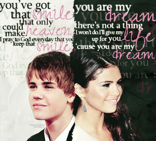Justin Bieber and Selena Gomez wallpaper containing a business suit and a portrait entitled Jelena LOVE<3