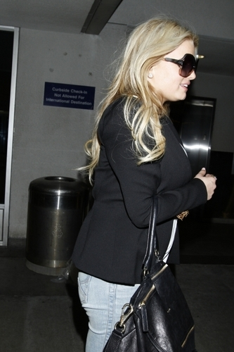 Jessica - At LAX Airport, May 22, 2011
