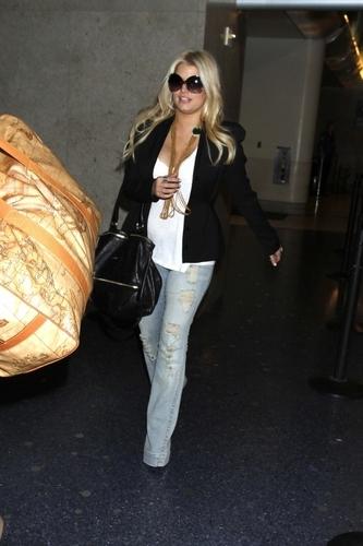 Jessica - At LAX Airport, May 22, 2011
