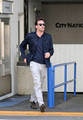 Jon Hamm Leaves City National Bank in Hollywood