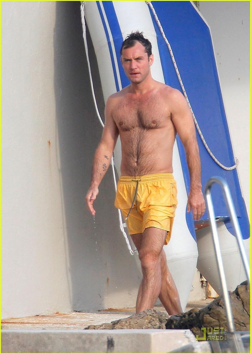 shirtless Jude law