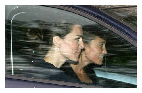 Kate Middleton वॉलपेपर probably with a टोअस्टर, टोस्टर ओवन entitled Kate Middleton; Leaving Her Parents House