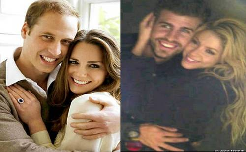 Kate and William: their the age gap is 24 times smaller than that of have Shakira and Piqué!