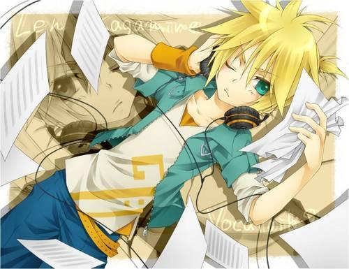 Rin und Len Kagamine Hintergrund entitled Len Kagamine! X3