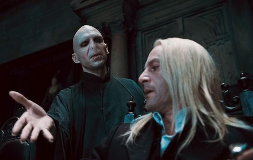 Lucius Malfoy and Voldemort