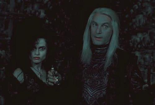 Lucius Malfoy with Bellatrix