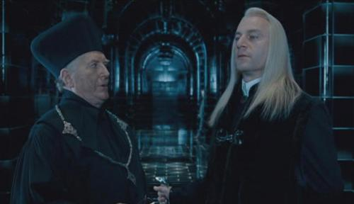 Lucius Malfoy with Cornelius fudge