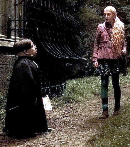 Luna Lovegood with Filius Flitwick