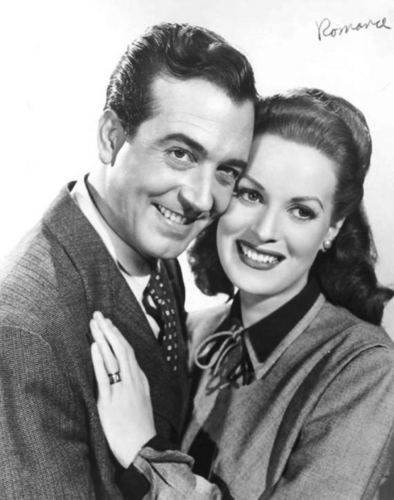 Classic Movies wallpaper with a business suit entitled Maureen & John Payne