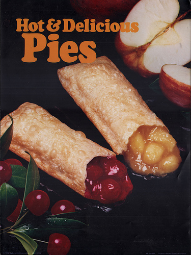 McDonald's wallpaper possibly with an egg roll entitled McDonald's fruit pies ad from 1979