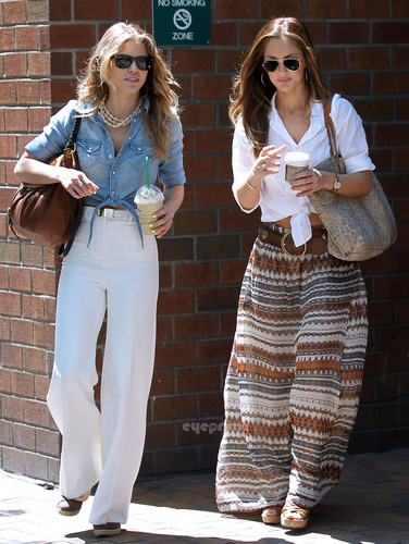 Minka Kelly & AnnaLynne McCord spotted out in NY, May 25