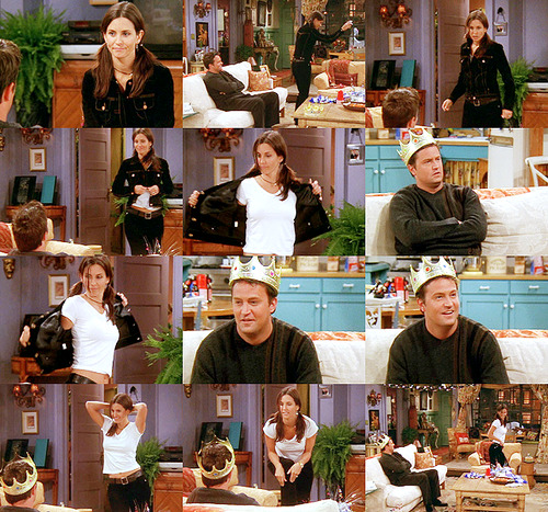Monica and Chandler wallpaper possibly containing a brasserie, a bistro, and a dinner table titled Mondler