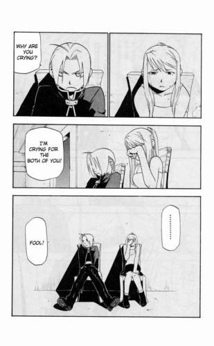 Edward Elric and Winry Rockbell Hintergrund entitled My Favorit EdWin Manga moments