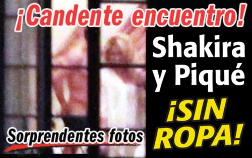 Naked Piqué and Shakira