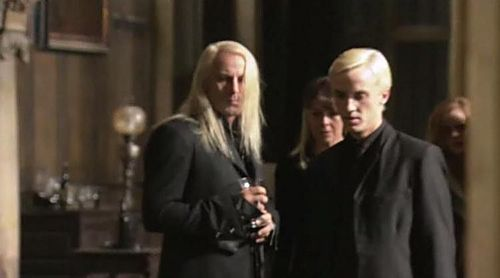 Narcissa, Lucius and Draco Malfoy