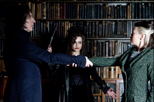 Narcissa Malfoy with Bellatrix and Severus Snape