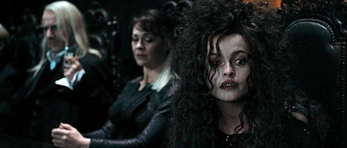 Narcissa and Lucius Malfoy with Bellatrix Lestrange