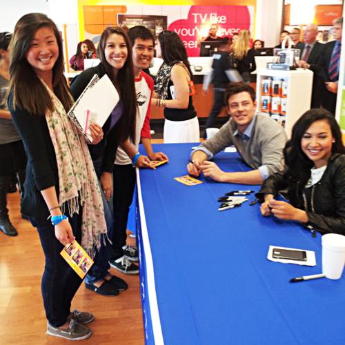 Naya Rivera & Cory Monteith | AT & T Store