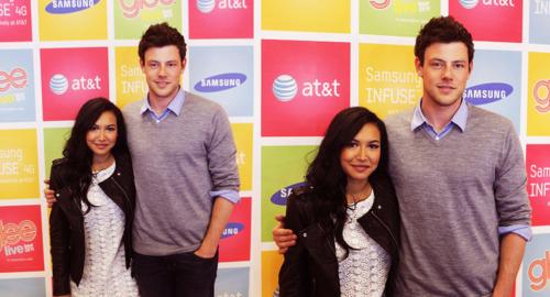 স্বতস্ফূর্ত দেওয়ালপত্র called Naya Rivera & Cory Monteith | AT & T Store