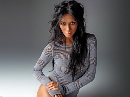 nicole scherzinger wallpaper probably containing an outerwear, a well dressed person, and a hip boot entitled Nikki