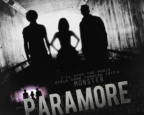 """Paramore """"Monster"""" uithangbord"""