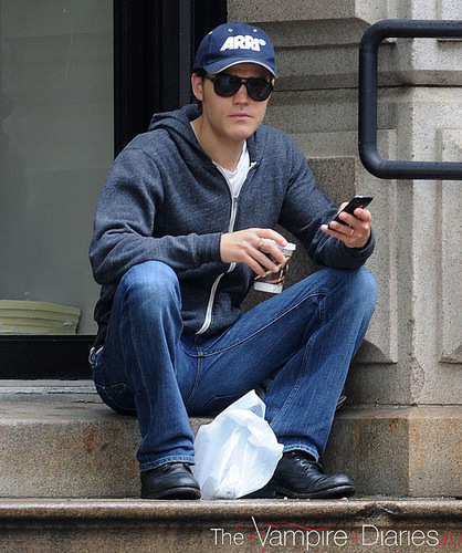 Paul Wesley in New York City (20.05.11)