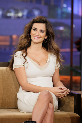 Penelope Cruz appears on Jay Leno Show, May 3