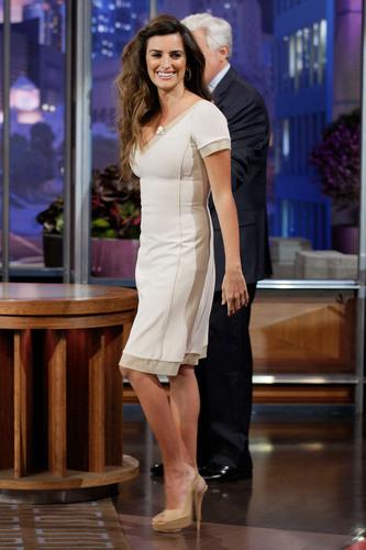 Penelope Cruz appears on jay Leno Show, May 3