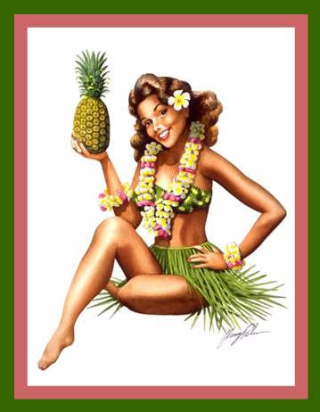 Pineapple Pin Up